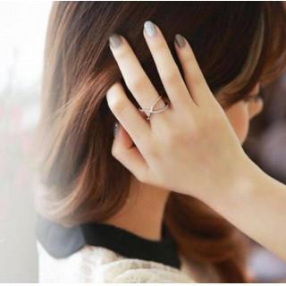 大人気 シルバー925  フリーサイズ 大人気 クロス リング 指輪(リング(指輪))