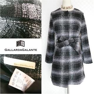 GALLARDA GALANTE - 美品♥️GALLARGALANTEガリャルダガランテ♥️チェックノーカラーコート