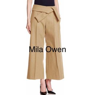 ミラオーウェン(Mila Owen)の【新品】ミラオーウェン ウエストリボンガウチョパンツ サイズ0(クロップドパンツ)