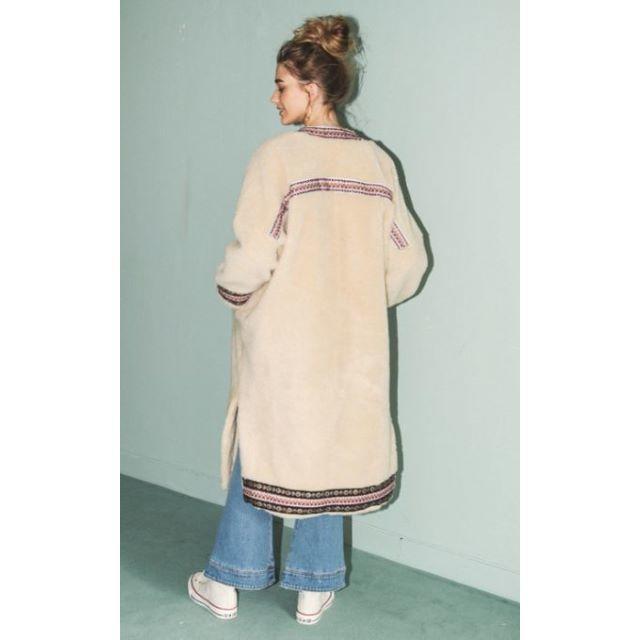 ALEXIA STAM(アリシアスタン)のALEXIA STAM Boa Fleece Collarless Coat レディースのジャケット/アウター(ロングコート)の商品写真