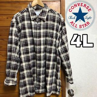 コンバース(CONVERSE)のコンバース ネルシャツ  美品 ビックサイズ(シャツ)