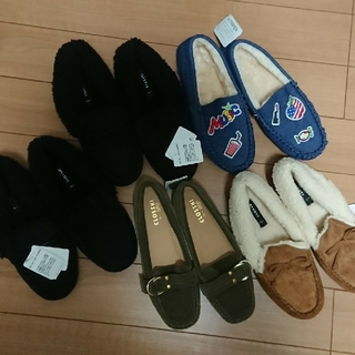 シマムラ(しまむら)の新品未使用★しまむら冬の靴モカシンセット(スリッポン/モカシン)
