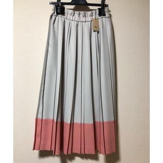 コムサイズム(COMME CA ISM)のCOMME CA バイカラープリーツスカート(ロングスカート)