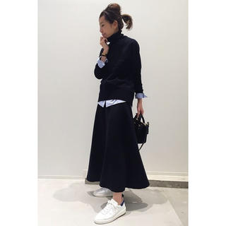 L'Appartement DEUXIEME CLASSE - ★アパルトモン WOOL LONG SKIRT 36 ネイビー★