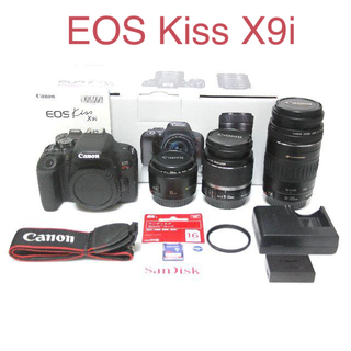 Canon - 【新品級】Canon EOS Kiss X9i 純正トリプルレンズ★おまけ