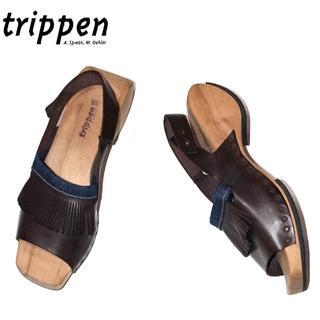 trippen - 正規品Trippenトリッペン ヌメ革レザーサンダル/24.0cm-24.5cm