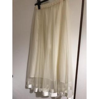 エージープラス(a.g.plus)のチュールロングスカート(ロングスカート)