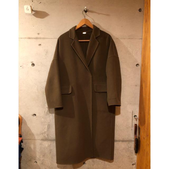 DEUXIEME CLASSE(ドゥーズィエムクラス)のリバーコート カーキ レディースのジャケット/アウター(ガウンコート)の商品写真