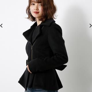 rienda - rienda ペプラムライダースジャケット Sサイズ 黒