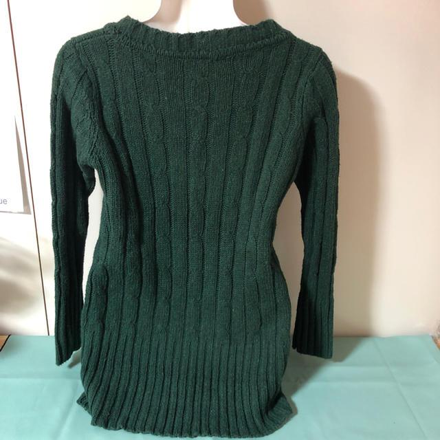 緑 ニート レディースのトップス(ニット/セーター)の商品写真