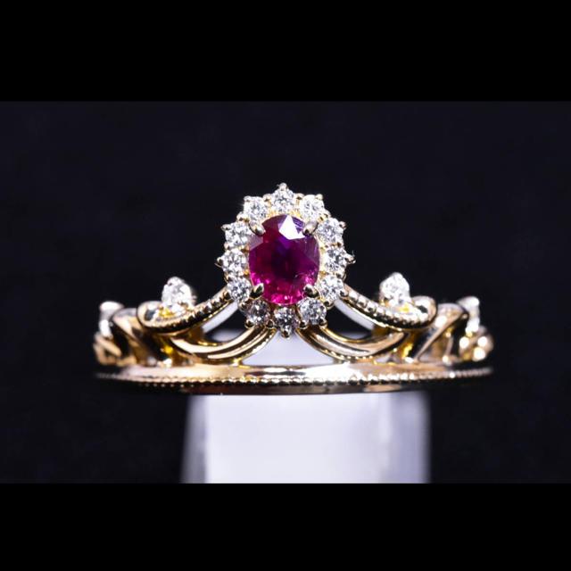 4℃(ヨンドシー)のリング  ダイヤモンド ルビー ディズニー 美女と野獣 レディースのアクセサリー(リング(指輪))の商品写真