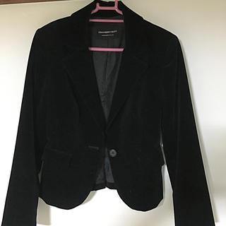 ストロベリーフィールズ(STRAWBERRY-FIELDS)の縞柄のベロアジャケット(その他)