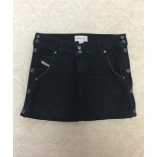 ディーゼル(DIESEL)のDIESEL デニムスカート 黒 24インチ 美品♡(ミニスカート)