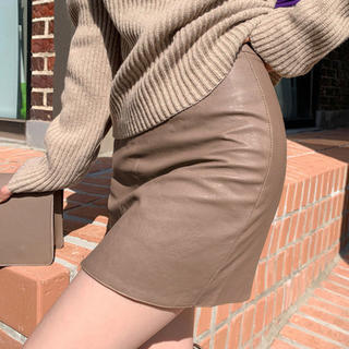 dholic - chuu レザースカート