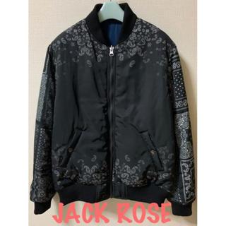 ジャックローズ(JACKROSE)のJACK ROSE  リーバシブル ペイズリー ブルゾン MA-1(ブルゾン)
