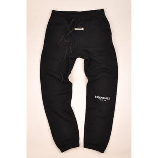 Supreme - ESSENTIALS黒M裏起毛 ロゴプリント スウェット パンツ ブラック 新品