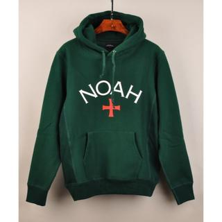 Supreme - NOAH ノア LOGO スウェットLグリーン 十字架柄 プルオーバー パーカ