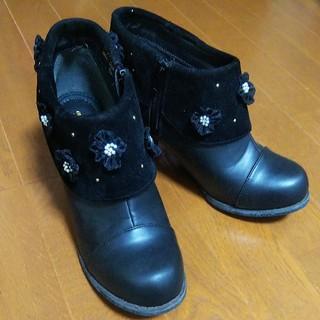 お花のショートブーツ(ブーツ)