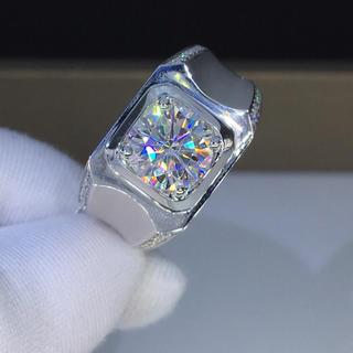 【2カラット】輝くモアサナイト ダイヤモンド リング(リング(指輪))