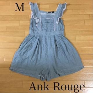アンクルージュ(Ank Rouge)の美品 Ank Rouge アンクルージュ サロペット  ショートパンツ  (サロペット/オーバーオール)