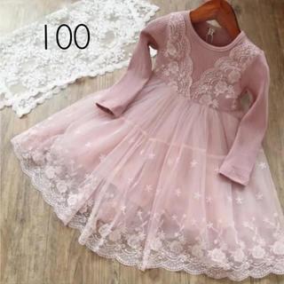 ZARA KIDS - 新品❅ チュール ワンピース キッズ 女の子 100 チュチュ 刺繍 ドレス