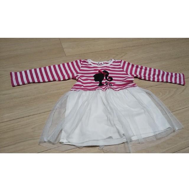 Barbie(バービー)の女の子 ワンピース 100 キッズ/ベビー/マタニティのキッズ服女の子用(90cm~)(ワンピース)の商品写真