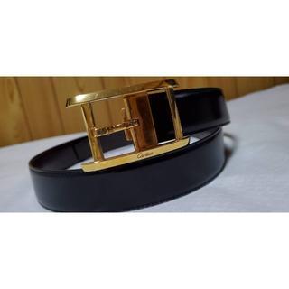 カルティエ(Cartier)の正規良 カルティエ アルディロン タンク ゴールドバックル ベルト黒×茶 メンズ(ベルト)