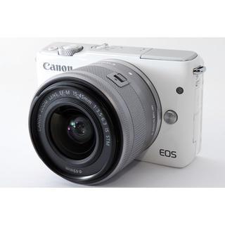 Canon - ☆自撮りしてその場でスマホにWiFi転送☆キャノン EOS M10 ホワイト