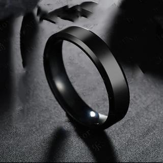 ブラックカラーチタンリング☆7号(リング(指輪))