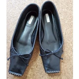 ドゥロワー(Drawer)のチェンバー スタッズ スクエアトゥ(ローファー/革靴)