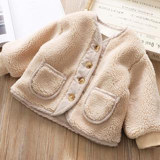 コドモビームス(こども ビームス)の新品 キッズ ベビー もこもこ アウター ボア コート 韓国 子供服 90(コート)