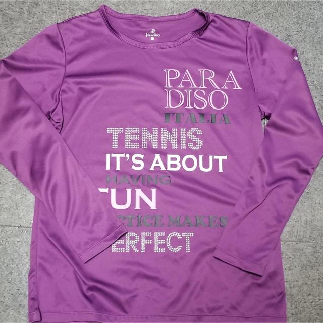 Paradiso(パラディーゾ)のPARADISO長袖Tシャツ パープル スポーツ/アウトドアのテニス(ウェア)の商品写真