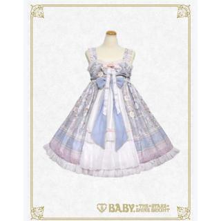 BABY,THE STARS SHINE BRIGHT - SA・KU・RA色のTea Time柄ベビードールジャンパースカート