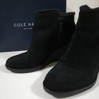 Cole Haan - コール・ハーン COLE HAAN 黒スエードショートブーツ☆一度着用美品