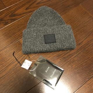 アクネ(ACNE)のアクネ 正規品ニット帽 グレー 美品 アパルトモンドゥーズィエムクラス(ニット帽/ビーニー)