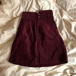 コーデュロイタイトスカート(ひざ丈スカート)