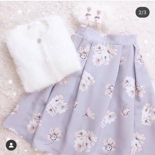 トッコ(tocco)の【tocco closet】花柄スカート  アイスブルー(ひざ丈スカート)