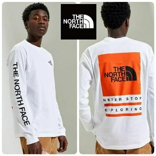 THE NORTH FACE - 新品!ザノースフェイス ビッグロゴ ボックスロゴ ロンT 白 M