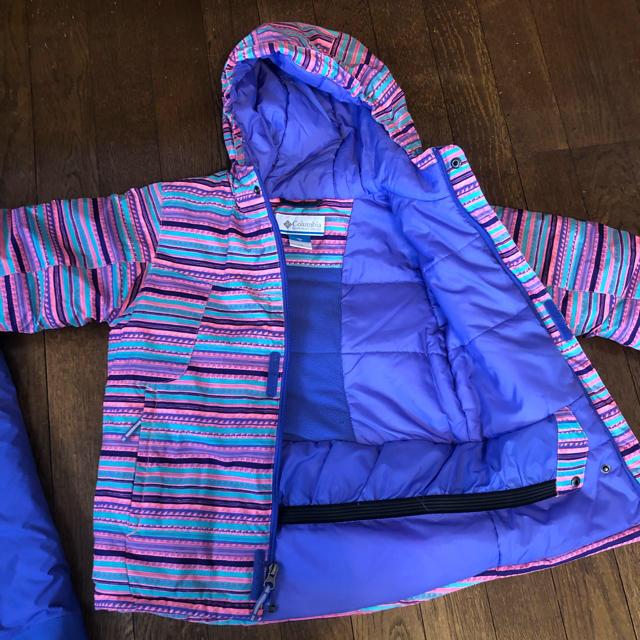 Columbia(コロンビア)のコロンビア  スキーウェア xs  120 キッズ ジャンパー 防寒 スポーツ/アウトドアのスキー(ウエア)の商品写真