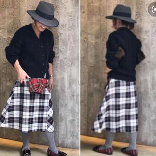 Drawer - 極美品【drawer】ドゥロワー チェック フレアー ラップスカート