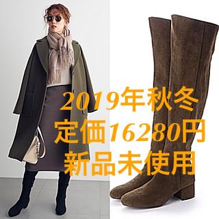 Mila Owen - 2019年秋冬 定価16280円 Mila Owen スエードニーハイブーツ