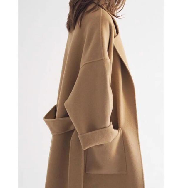 DEUXIEME CLASSE(ドゥーズィエムクラス)のna.e バックタックコート Back Tack Coat ナエ ウールカシミヤ レディースのジャケット/アウター(ロングコート)の商品写真