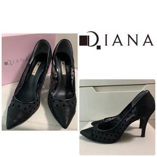 DIANA - ダイアナ ブラックシアー ドットパンプス