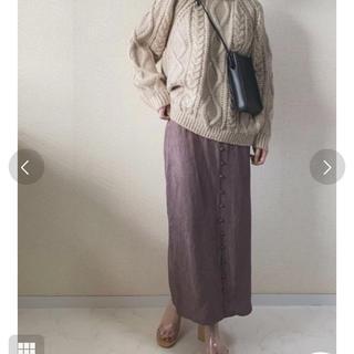 TODAYFUL - todayful フロントボタンサテンスカート