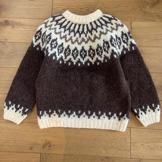 ロキエ(Lochie)の古着屋購入 ヴィンテージ ノルディックニット ブラウン系(ニット/セーター)