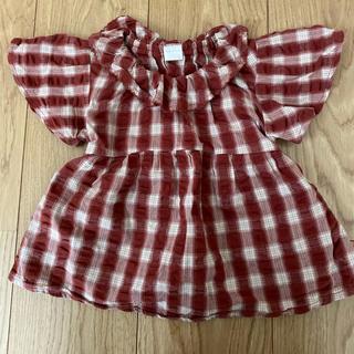 プティマイン(petit main)のテータテート トップス サイズ90(Tシャツ/カットソー)