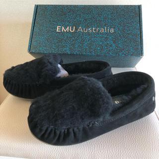 エミュー(EMU)の新品未使用 エミューファーモカシン25.0cm(スリッポン/モカシン)
