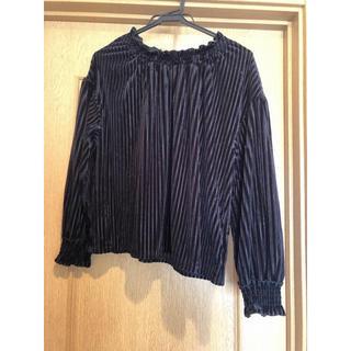 ダブルクローゼット(w closet)のw closet ベロアバルーントップス(シャツ/ブラウス(長袖/七分))