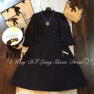 FOXEY - ♡試着のみ♡フォクシー4-Way DF Long Sleeve Dress♡