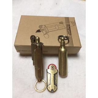 アンティーク 真鍮 レプリカ トレンチ オイル ライター 3点セット
